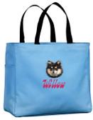 Pomeranian Tote Font shown on bag is BELLBOTTOMS