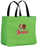 Brittany Tote Font shown on bag is ECLAIR