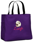 Great Pyrenees Tote Font shown on bag is KINDERGARTEN