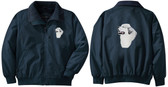 Great Pyrenees Jacket Back and Front Left Chest