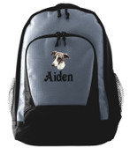Greyhound Backpack Font shown on bag is VICTORY