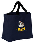 Shih Tzu Tote Font shown on bag is PIZZA PIE