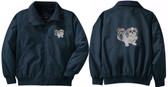 Shih Tzu Jacket Back and Front Left Chest