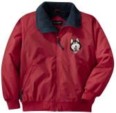 Siberian Husky Jacket Front Left Chest