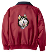 Siberian Husky Jacket Back