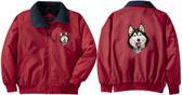 Siberian Husky Jacket Back & Front Left Chest