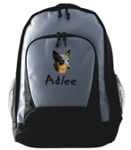 Australian Cattle Dog Backpack Font shown on bag is KINDERGARTEN