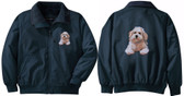Bichon Frise Jacket Back and Front Left Chest