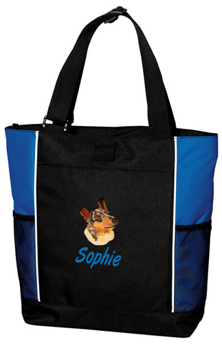 Collie Tote Bag Font shown on Tote is Sweep Italic