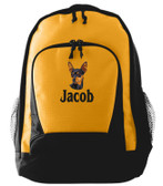 Miniature Pinscher Backpack Font shown on bag is BANQUET