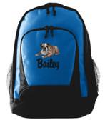 Bulldog Backpack Font shown on bag is LANCER