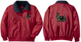Scottish Terrier Jacket Back and Front Left Chest