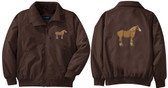 Draft Jacket Back and Front Left Chest