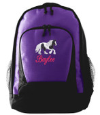 Gypsy Vanner Backpack Font shown on bag is BRIDAL PATH