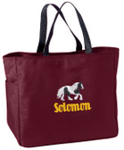 Gypsy Vanner Tote Font shown on tote is EDWARD