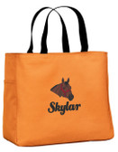 Quarter Horse Tote Font shown on tote is ECLAIR