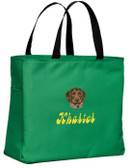 German Wirehair Tote Font shown on bag is BELLBOTTOMS