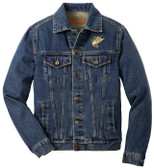 Bass Fishing Denim Jacket Front Left Chest