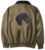 Friesian Horse Jacket Back