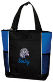 Irish Wolfhound Tote Font shown on bag is Jet Script