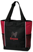 Portuguese Water Dog Tote Font shown on tote is Pizza Pie