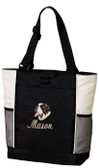 Saint Bernard Tote Font shown on tote is Script1