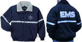 EMT EMS Reflective Jacket - Embroidered Front & Back