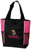 Mastiff Tote Font shown on tote is Laverne
