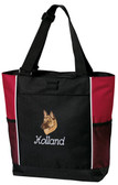 Belgian Malinois Tote Font shown on tote is Beverly