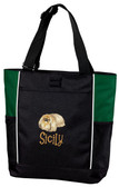 Airedale Terrier Tote Font shown on bag is IMPERVIOUS
