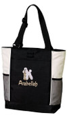 Poodle Tote Font shown on bag is SPLASH