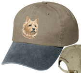Cairn Terrier Cap Personalized - Embroidered Back