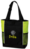 Flat Coated Retriever Tote Font shown on bag is bedrock
