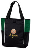 English Setter Panel Tote Font shown on bag is ALPINE
