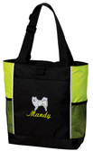 American Eskiimo Panel Tote Font shown on bag is SCRIPT1