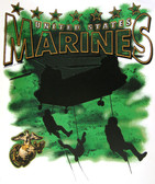 US Marines T-shirt - Imprinted US Marines