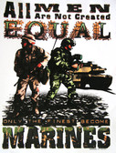 US Marines T-shirt - Imprinted All Men Are Not Created Equal