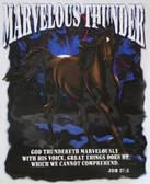 Marvelous Thunder T-shirt - Imprinted Job 37:5