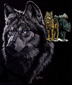 Wolves T-shirt - Imprinted Wolves on Dark colors