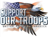 Support Our Troops T-shirt - Imprinted Support Our Troops