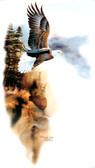 Soaring Eagle T-shirt - Imprinted Whispering Wings