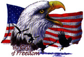 Cry For Freedom Eagle T-shirt - Imprinted American Eagle Cry For Freedom