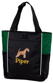 Lakeland Terrier Tote Font shown on tote is Cowboy