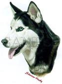 Siberian Husky T-shirt - Imprinted Husky Head