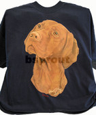 Vizsla T-shirt - Imprinted Vizsla Head