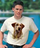 Yellow Labrador Retriever T-shirt - Imprinted Yellow Labrador Retriever