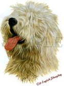 Old English Sheepdog T-shirt - Imprinted Old English Sheepdog Head