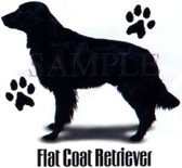 Flat Coat Retriever T-shirt - Imprinted Flat Coat Retriever