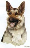 German Shepherd T-shirt - Imprinted German Shepherd Head