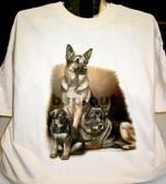 German Shepherd T-shirt - Imprinted German Shepherd Generations